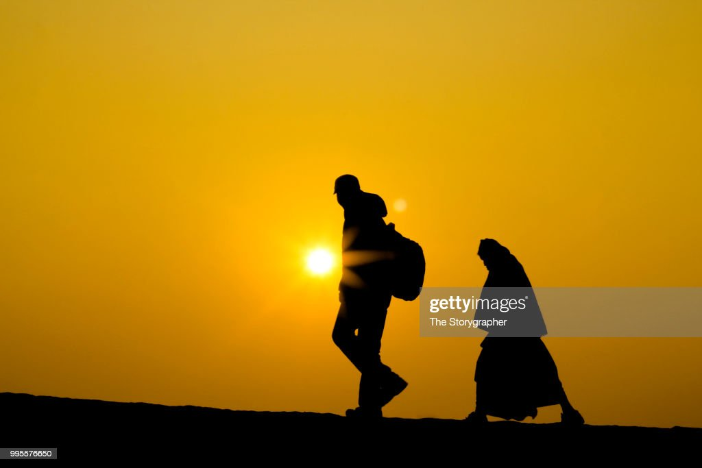 a silhouette story : Stock Photo