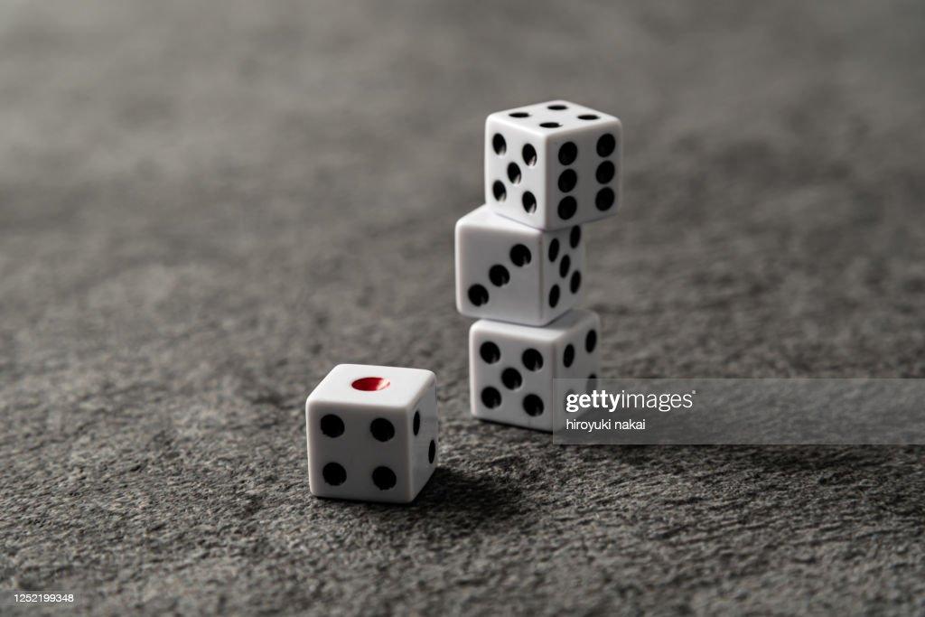 a thrown dice : ストックフォト