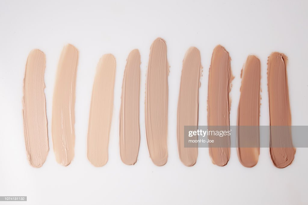 a variety of foundation textures : Stock Photo