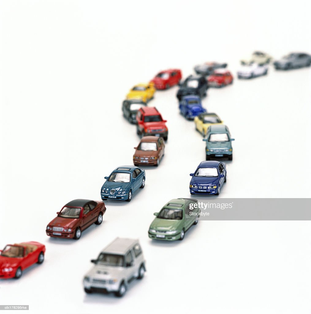 a variety of toy model cars : Stock Photo