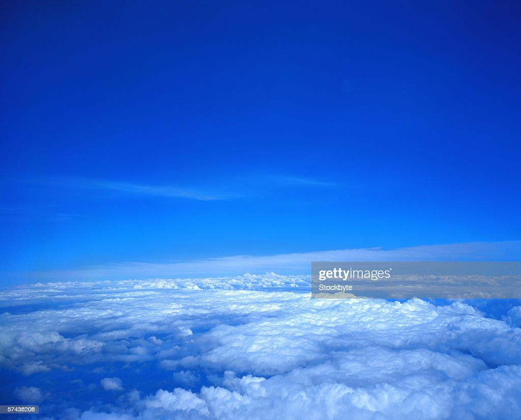 a view from above the clouds : Stock Photo