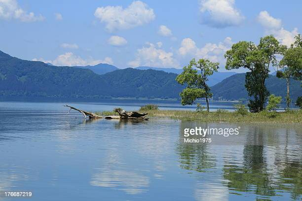 a view of Lake Tazawa