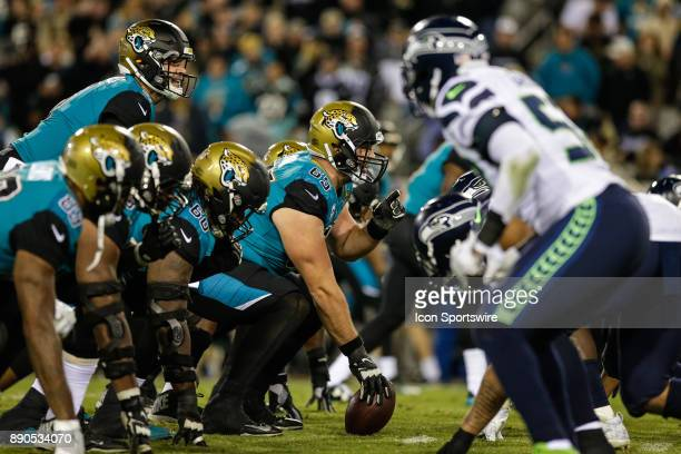 a view of the line of scrimmage during the game between the Seattle Seahawks and the Jacksonville Jaguars on December 10 2017 at EverBank Field in...