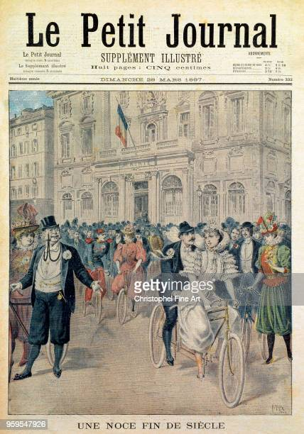 a wedding end of the century in Paris 1897 Engraving private collection France