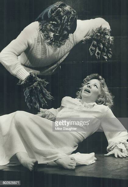 Aaaargh It's the Curse of The Werewolf for victim Bonnie Campbell as she's attacked by a hairy suitor at the Young People's Theatre 165 Front St E...