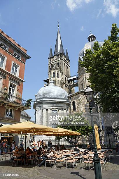 Aachen Cathedral and Cafe