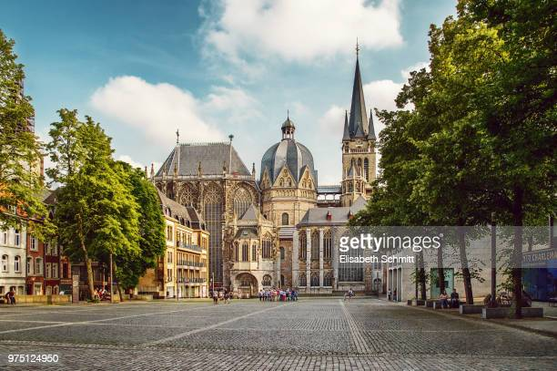 "aachen cathedral (""aachener dom"") - aachen stock pictures, royalty-free photos & images"