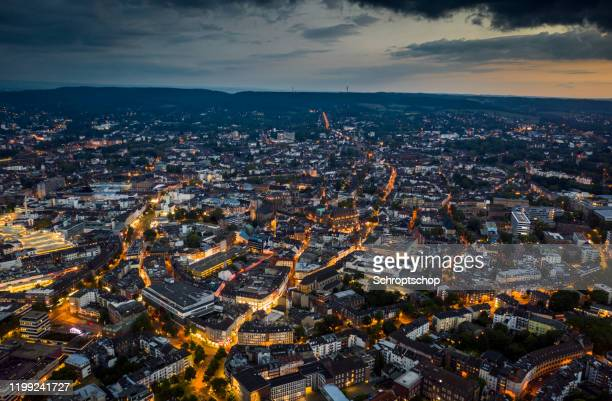 aachen cityscape - aerial hyper lapse - north rhine westphalia stock pictures, royalty-free photos & images