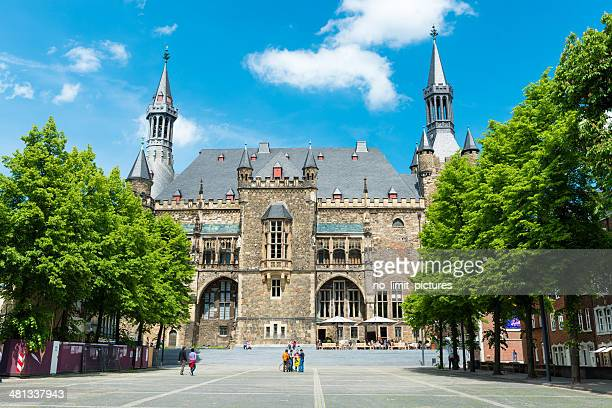 aachen historic town hall - aachen stock pictures, royalty-free photos & images