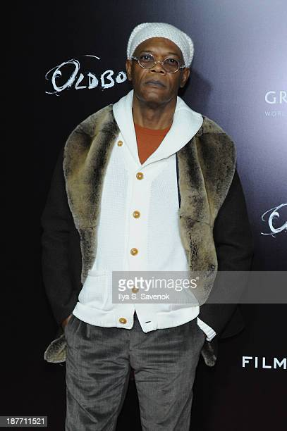 Aactor Samuel L Jackson attends the screening of Oldboy hosted by FilmDistrict and Complex Media with the Cinema Society and Grey Goose at AMC...