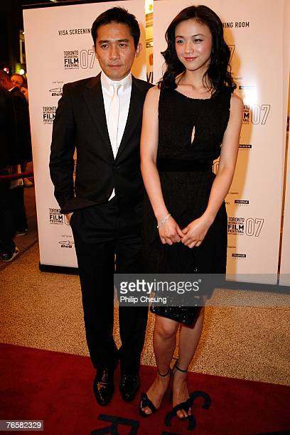 Aactor Tony Leung and actress Tang Wei arrive at the Lust/Caution North American Premiere screening during the Toronto International Film Festival...