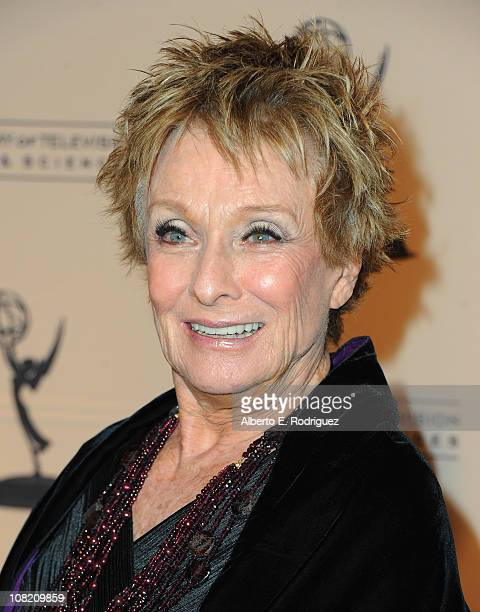 Aactress Cloris Leachman arrives to the Academy of Television Arts Sciences' Hall of Fame Committe's 20th Annual Induction Gala on January 20 2011 in...