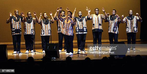 aadance4 2/25/04 Annapolis Md Mark Gail_TWP Joseph Shabalala and the rest of the South African singing group Ladysmith Black Mambazo performed before...