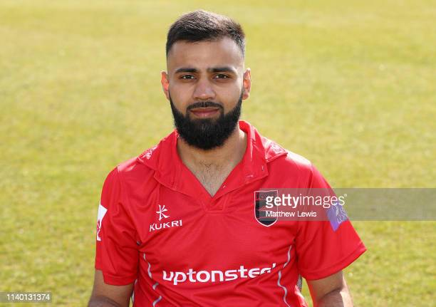 Aadil Ali of Leicestershire CCC pictured during the Leicestershire CCC Photocall at Grace Road on April 03 2019 in Leicester England