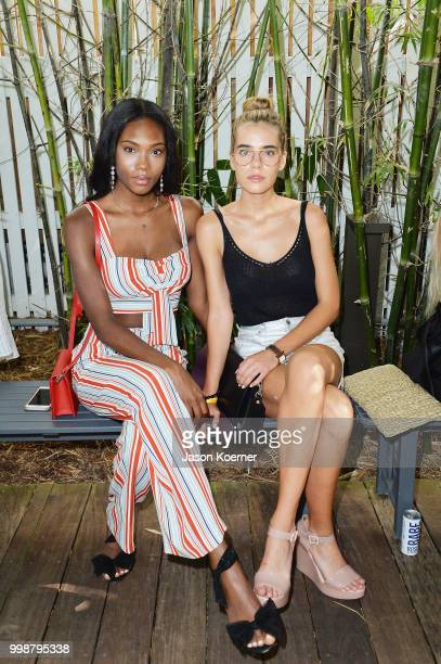 Aafiya Bennett and Sif Saga attend the front row for Stone Fox Swim Fall 2018 at Nautilus Hotel on July 14 2018 in Miami Beach Florida