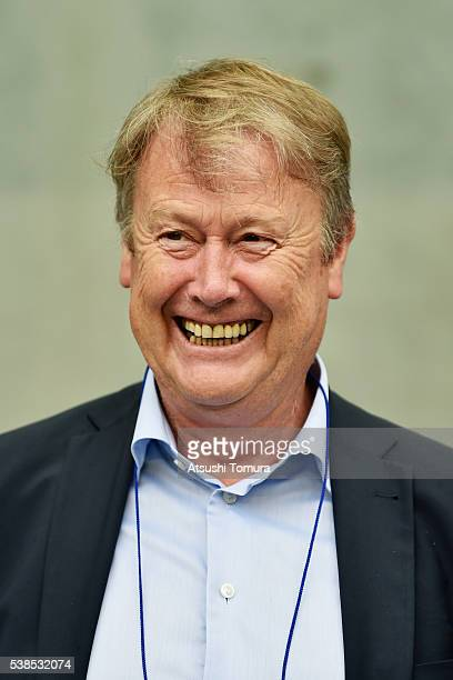 Aage Hareide head coach of Denmark looks on prior to the international friendly match between Denmark and Bulgaria at the Suita City Football Stadium...