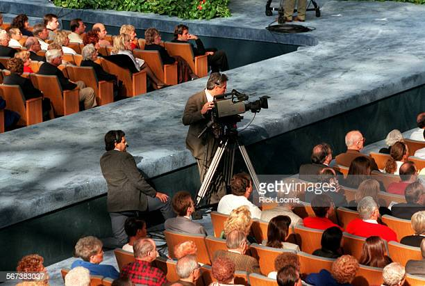 GodOnline.video.1207.RL––Garden Grove––Sunday services at the Crystal Cathedral with Dr. Robert Schuller and his guest Larry King are captured on...