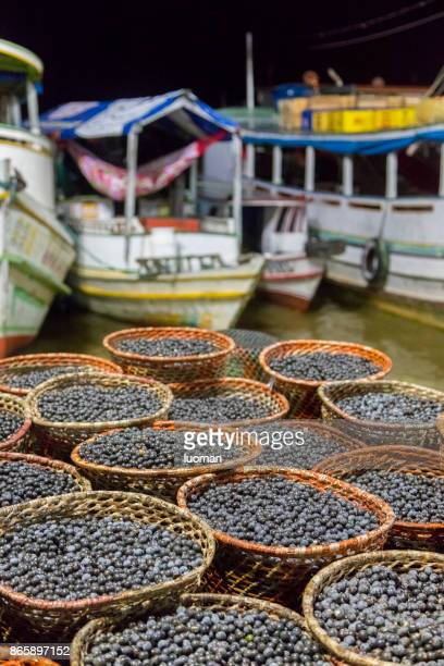 açai market in belem - acai stock pictures, royalty-free photos & images