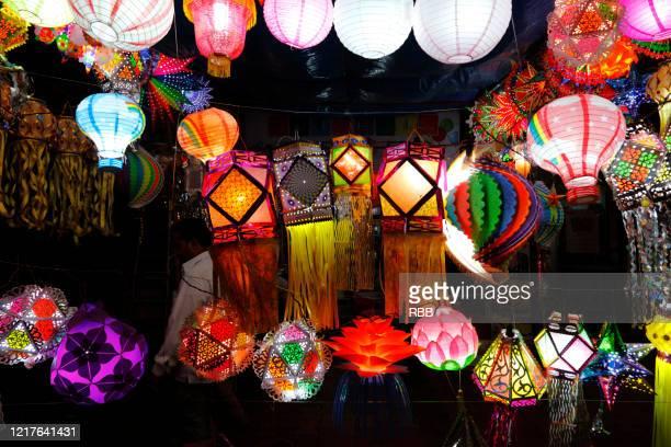 aakash kandils - diwali stock pictures, royalty-free photos & images