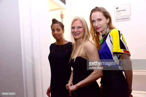 Aakiya Woods Annika Howe and Brynne Rinderknecht attend Alexei Jawlensky Opening Reception at the Neue Galerie at 1048 5th Ave on February 15 2017 in...