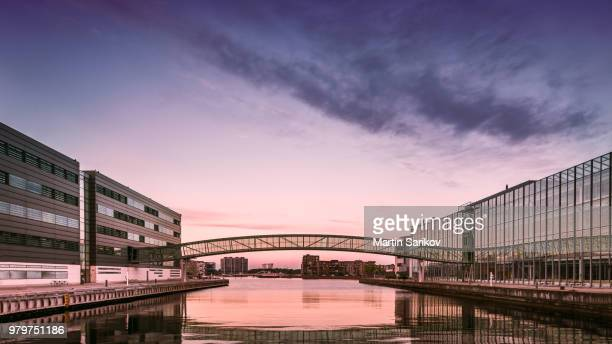 aalborg university at sunset, aalborg, copenhagen, denmark - aalborg stock pictures, royalty-free photos & images