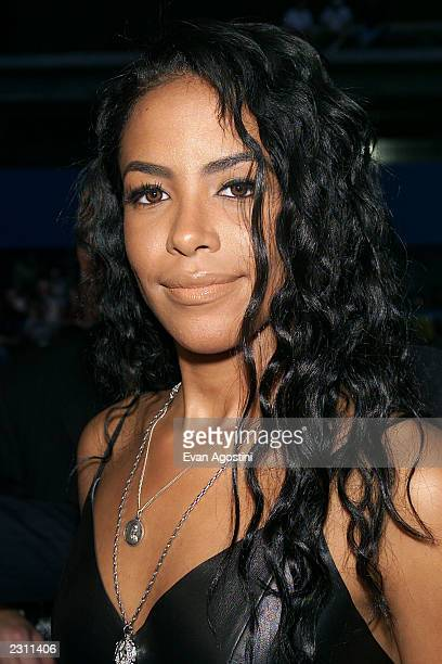 Aaliyah arriving at the MTV 20th Anniversary party 'MTV20 Live and Almost Legal' at Hammerstein Ballroom in New York City on 8/1/01 Photo by Evan...