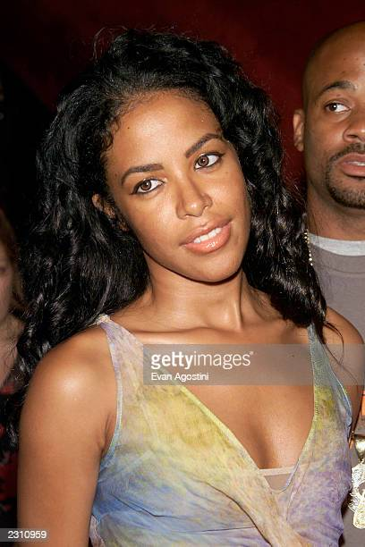 Aaliyah at the world premiere of the 20th Century Fox film 'Planet of the Apes' at the Ziegfeld Theater in New York City Photo Evan...