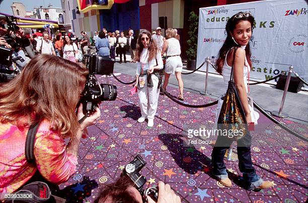 Aaliyah at the Zany Brainy Education Works fundraiser at Universal Studios theme park Singer/actress Aaliyah died in a plane crash in the Bahamas on...