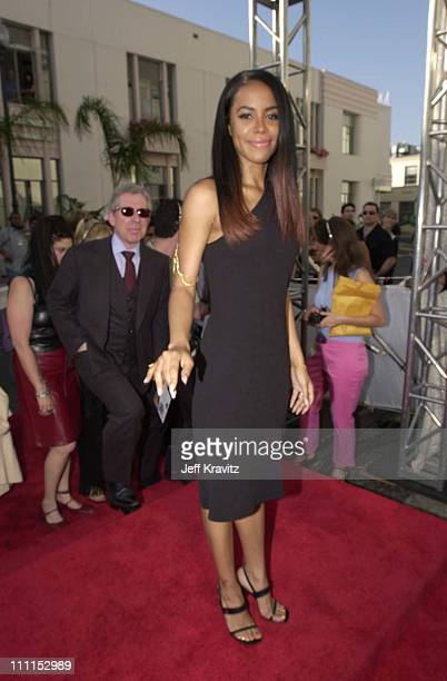 Aaliyah during 2000 MTV Movie Awards at Sony Studios in Culver City California United States