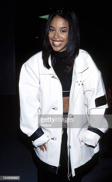 Aaliyah during Aaliyah Fans Pay Tribute in New York New York United States