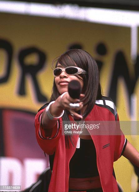 Aaliyah during Aaliyah In Concert in Irvine California United States
