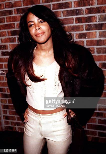 Aaliyah during Joe Album Release Party at Club Exit New York City in New York NY United States