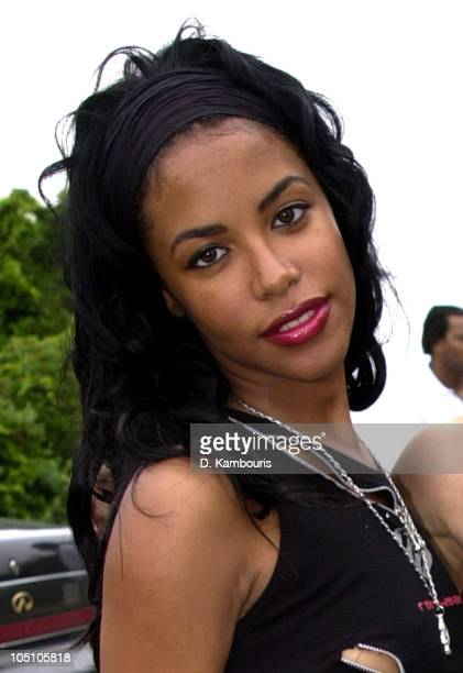 Aaliyah during Sean 'P Diddy' Combs Independence Day Softball Game and BBQ in Easthampton New York United States