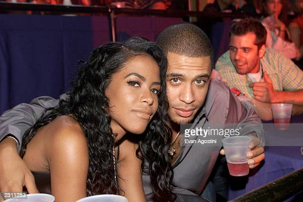 Aaliyah with her Brother at the MTV 20th Anniversary party MTV20 Live and Almost Legal at Hammerstein Ballroom in New York City on 8/1/01 Photo by...