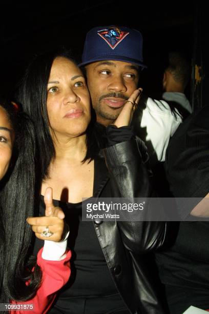 Aaliyah's mom and Damon Dash during DKNY and Vanity Fair Present In Concert Series at Irving Plaza in New York City NY United States