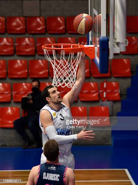 Aalstar's Ivan Maras shoots on the ball during the basketball match between Okapi Aalst and Phoenix Brussels, Saturday 16 January 2021 in Aalst, on...