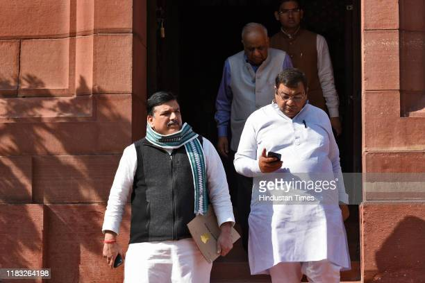 Aam Aadmi Party MP Sanjay Singh during the first day of the winter session of Parliament on November 18 2019 in New Delhi India The 250th Rajya Sabha...