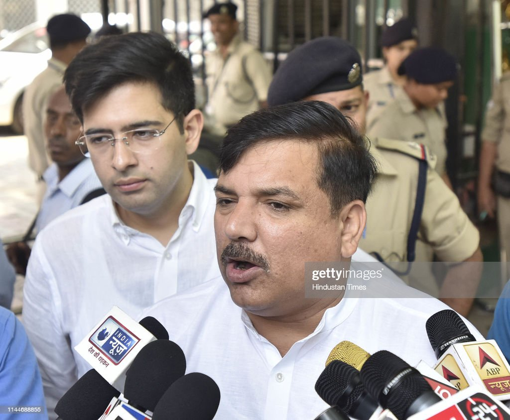 IND: AAP leaders Meet EC On The Issue Of Alleged Manipulation Of Polling Diaries By Presiding Officers