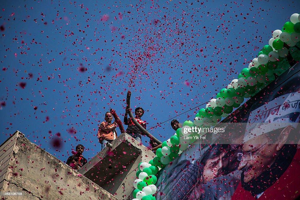 Delhi Holds 2015 Legislative Assembly Election : Nachrichtenfoto
