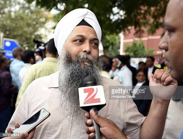 Aam Adami Party Delhi MLA Jarnail Singh leaves after attending the hearing at Election Commission of India over office of profit row at ECI HQ on...