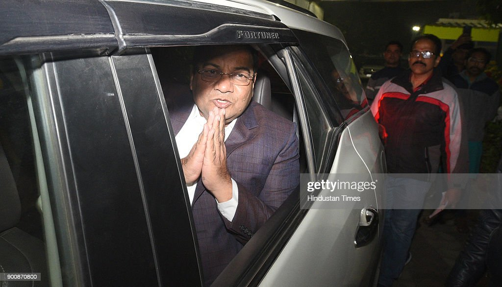 Aam Admi Party's Rajyasabha nominee Sushil Gupta after meeting with Delhi CM Arvind Kejriwal at CM resident on January 3, 2018 in New Delhi, India.