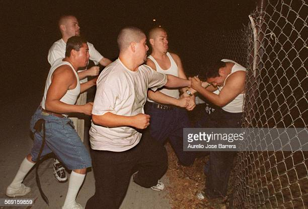 AAManiacAJBManiac is initiated into the 18th Street gang by four 18th Streeters in an alley in Santa Ana Several gang members beat the new member...