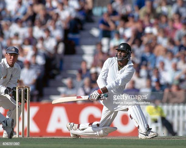 Aamer Sohail batting for Pakistan during the 3rd Test match between England and Pakistan at The Oval London 23rd August 1996 The wicketkeeper for...