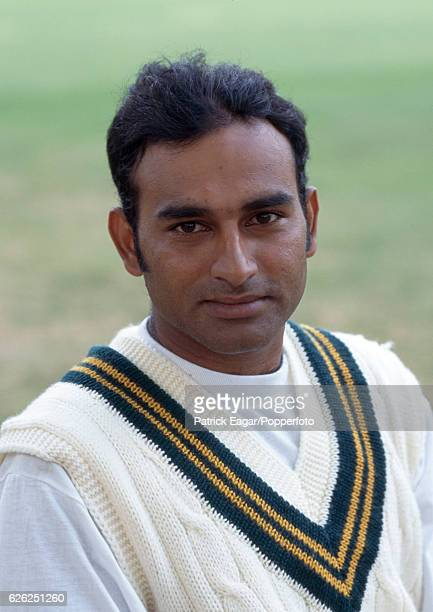 Aamer Sohail of Pakistan before the 1st Test match between England and Pakistan at Lord's Cricket Ground London 24th July 1996