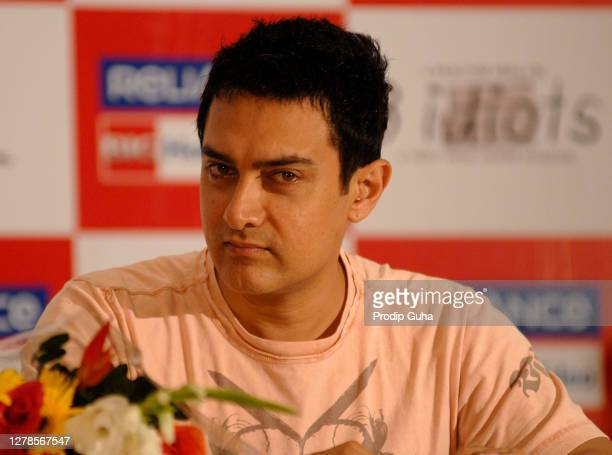Aamir Khan attends the DVD launch of the film 'Idiots'on August 27, 2010 in Mumbai, India.