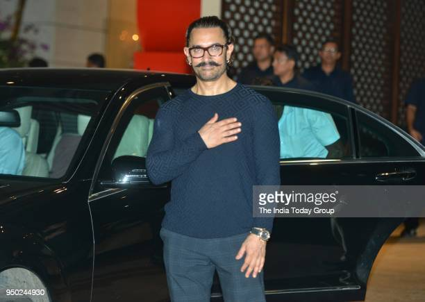 Aamir Khan during the dinner party hosted by Nita Ambani for Thomas Bach President of International Olympic Committee in Mumbai