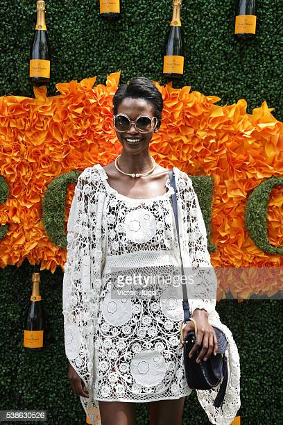 Aamito Lagum 9th Annual Veuve Clicquot Polo Classic at Liberty State Park on June 4 2016 in Jersey City New Jersey