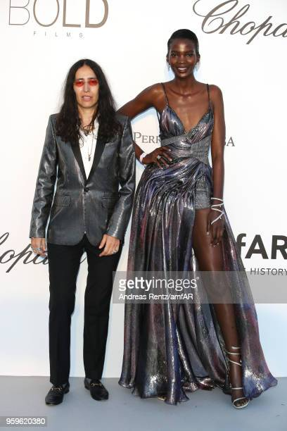 Aamito Lagum arrive at the amfAR Gala Cannes 2018 at Hotel du CapEdenRoc on May 17 2018 in Cap d'Antibes France