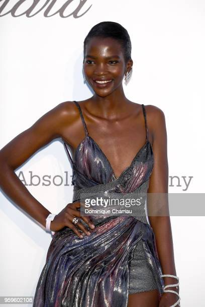 Aamito Lagum arrives at the amfAR Gala Cannes 2018 at Hotel du CapEdenRoc on May 17 2018 in Cap d'Antibes France