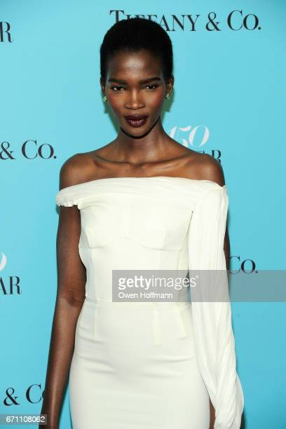 Aamito Lagum attends Harper's Bazaar 150th Anniversary Party at The Rainbow Room on April 19 2017 in New York City